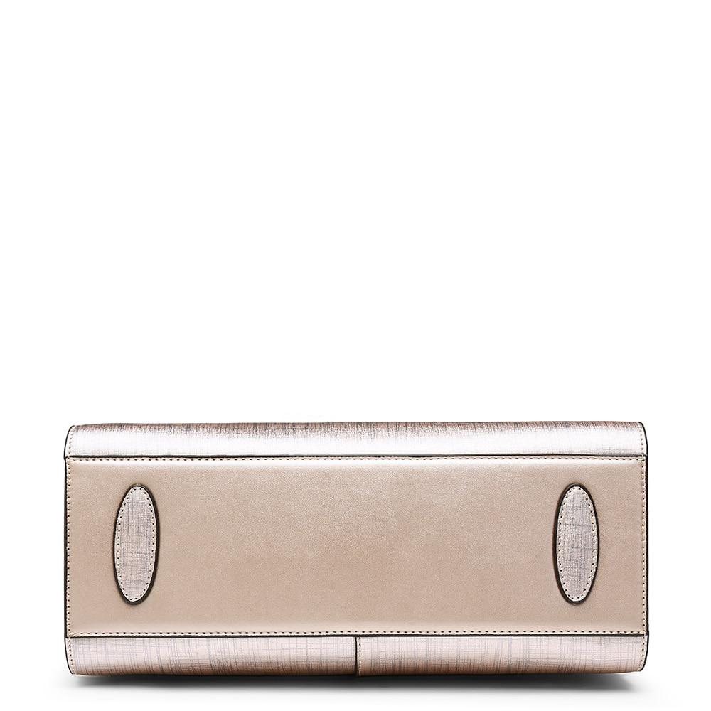 FOXER Shoty Women Handbag Split Leather Light Pink