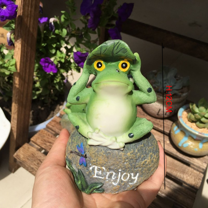 Merveilleux Cute Frog Decorative Stone Garden Statues And Ornaments Outdoor Lawn Yard  Cartoon Animal Gnome Art Accessories And Decor Accents In Garden Statues ...