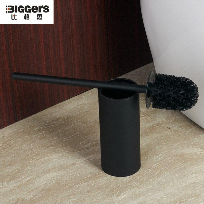Free Shipping New Modern Black Color Floor Standing Stainless Steel Toilet Brush Holder 833x