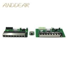 8 port Gigabit switch módulo é amplamente utilizado em linha LED porta 8 10/100/1000 m entre em contato com porta mini switch módulo PCBA Motherboard