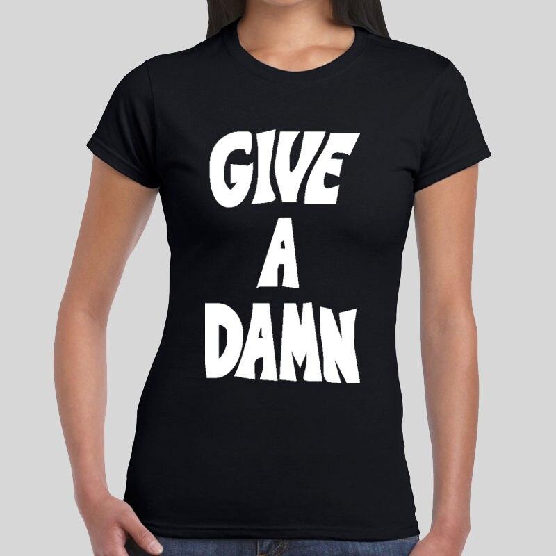 2017 Fashion Give A Damn Alex Turner Glastonbury 2016 Music Tee Womens Girls Top T-Shirt 100% Cotton Short Sleeve