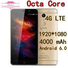 A Estrenar 5.5 Pulgadas UMI Max Teléfono Móvil Android 6.0 Marshmallow Octa Core 4G LTE Smartphone 3 GB RAM 16 GB ROM 4000 mAh 1920×1080