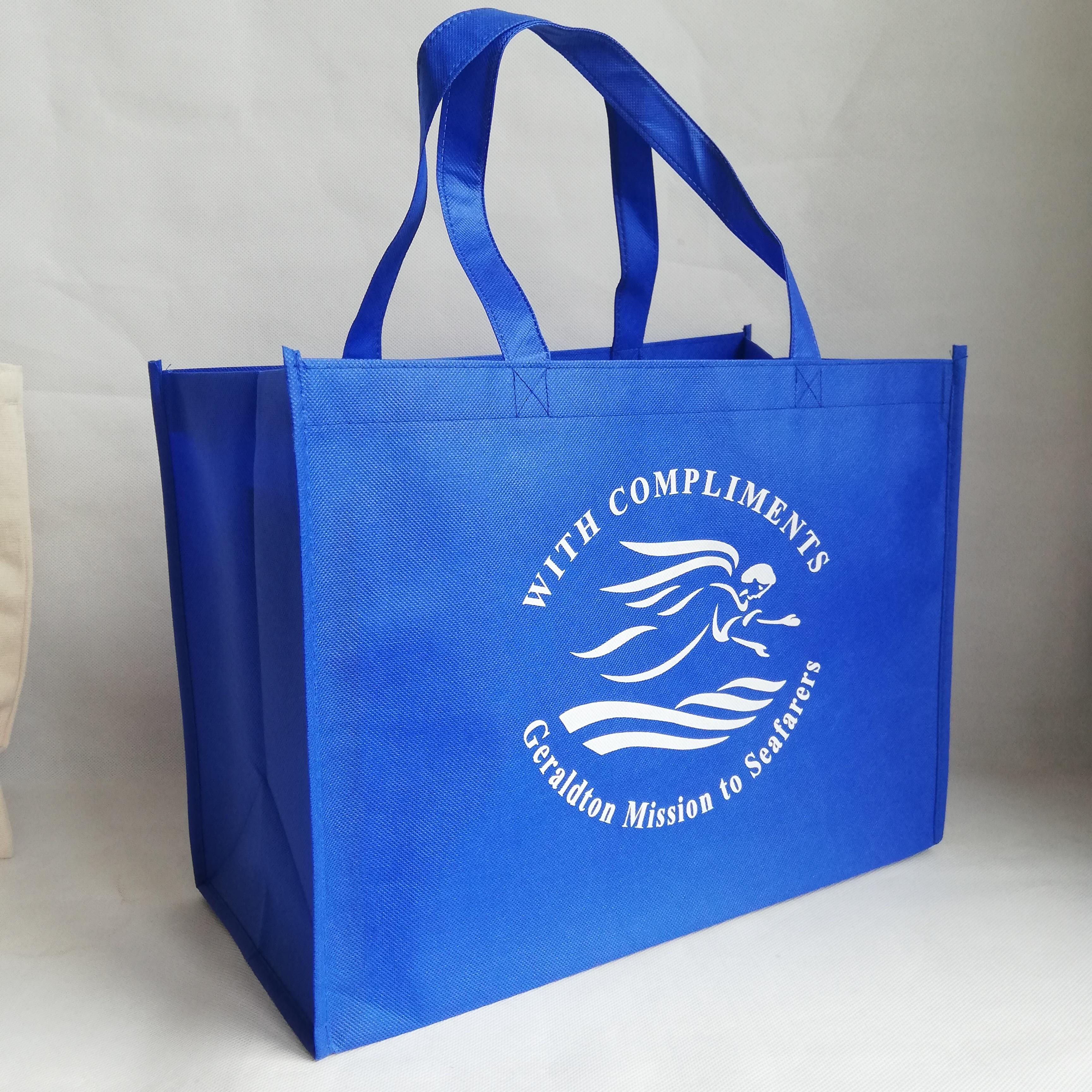 Bagaj ve Çantalar'ten Alışveriş Poşetleri'de 500 adet/grup Yeniden Kullanılabilir Olmayan dokuma Logo Çanta Kek Mağaza ve Kumaş Ayakkabı Baskılı Marka Promosyon Pazarı çanta Toptan'da  Grup 1