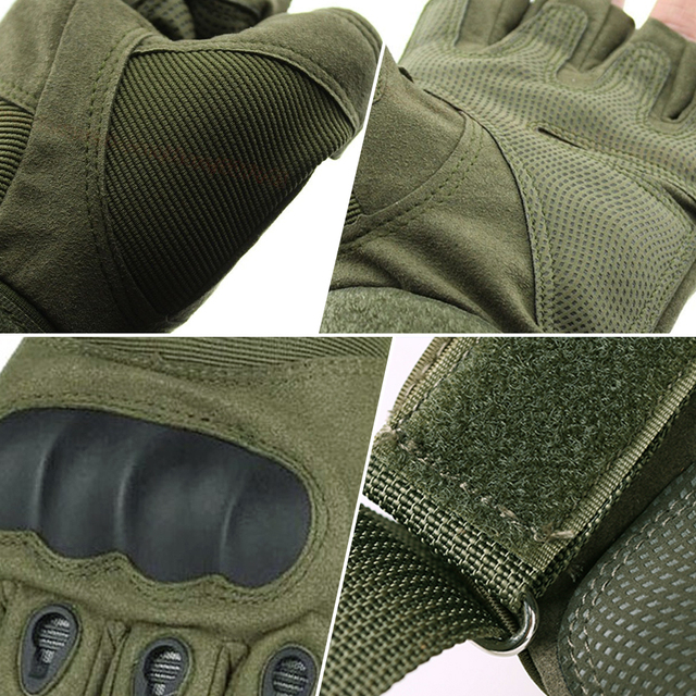 Hard Knuckle Fingerless Gloves Motorbike Motocross