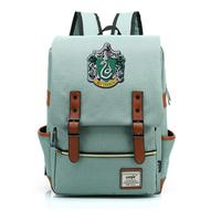 OHCOMCIS Harri Potter Harry Gryffindor/Hogwarts Slytherin Ravenclaw Hufflepuff Backpack Canvas Travel Bag Teenager School Bags