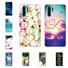 For Huawei P30 Pro Case Soft TPU Silicone P 30 pro Cover Fashion City Pattern Bumper Capa