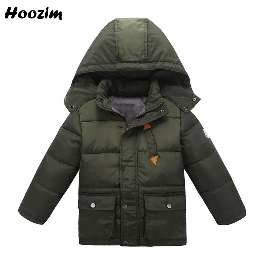 Winter Jackets For Boys 6 7 8 9 Years Casual Army Green Long Coat Kids Fashion Cotton Parka Children Autumn Black Outerwear Boy fashion cotton jacket coat for men army green l