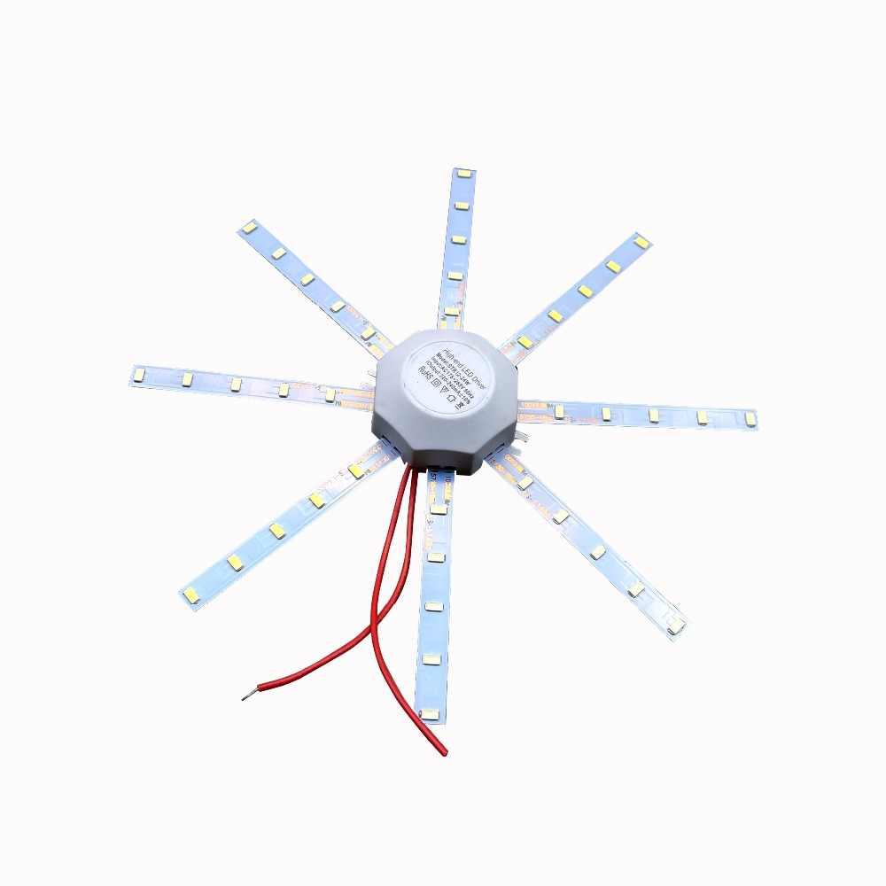 LED Light board Celling Lamp Tube Energy Saving Lamp 5730SMD High Bright Warm white/Cool white Octopus Board Round ceiling light
