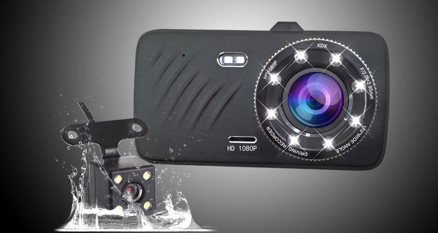 dual lens rearview dashcam