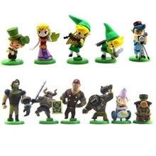 12Pcs 6cm The Legend Of Zelda Action Figure Small Figure Toy Model Collection Gashapon Egg Capsule Toys