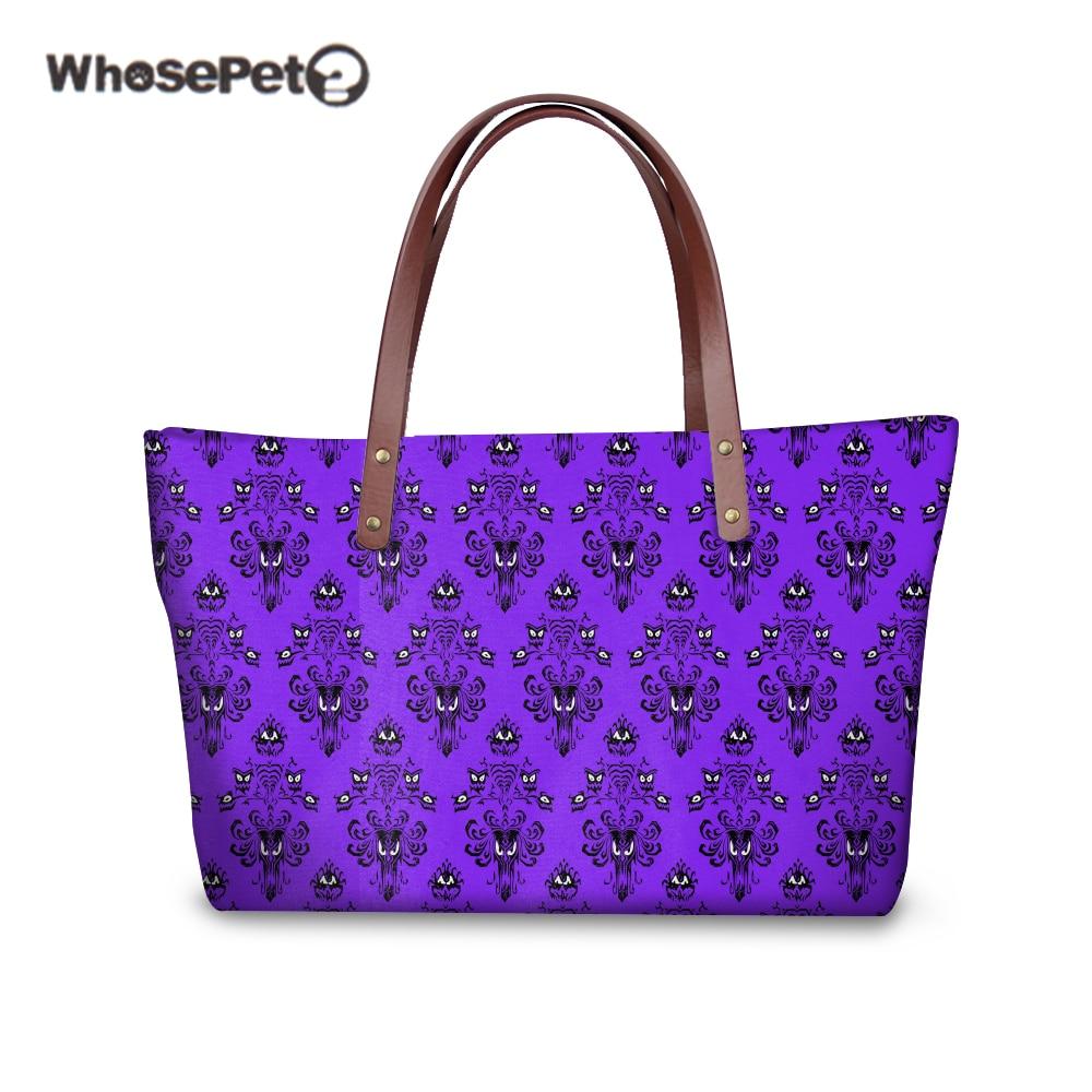 WHOSEPET HAUNTED MANSION Ladies Top-handle Bags Brand Women Shoulder Bag Female Handbags Fashion Clutch Sac Feminina Purple