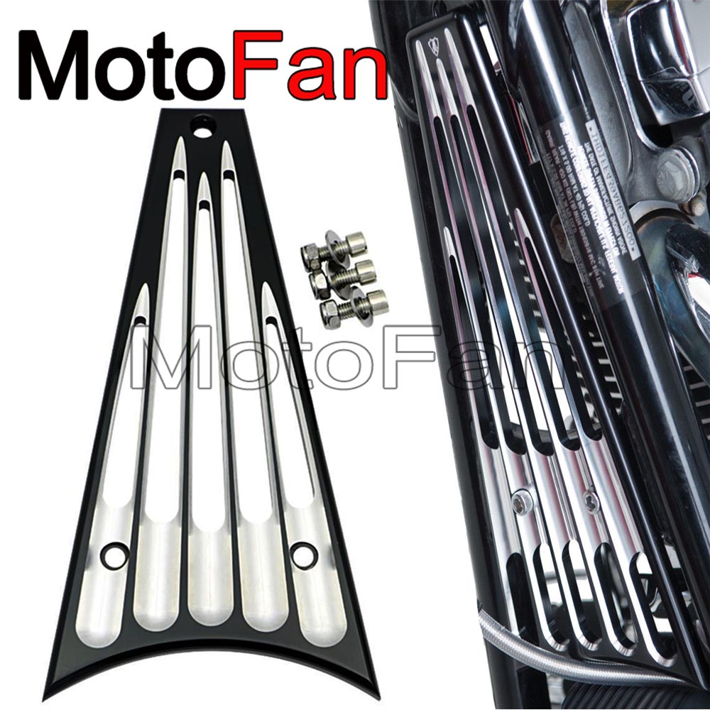 Billet Deep Cut Motorcycle Frame Grill Cover for Harley Davidson Touring Road King Street Glide FLHT FLHR FLHX FLTR 2014-2017 2x chrome motorcycle hard saddle bag saddlebag lid accents decals for harley touring glide flhx flht flhr mbt007