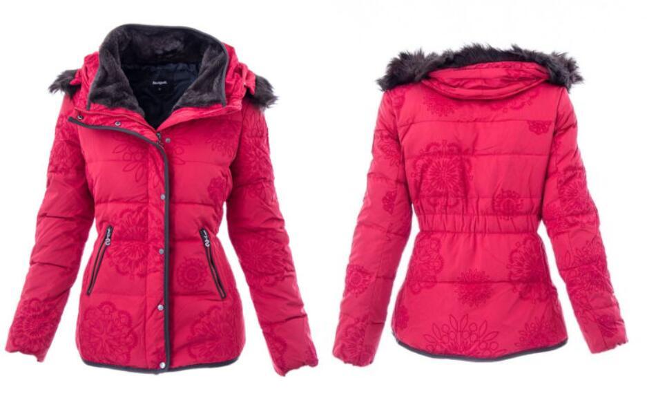 2019 spanisch Grad stil Flut Winter Hut Abnehmbare Dünne Baumwolle gepolsterte Dame-in Parkas aus Damenbekleidung bei  Gruppe 1