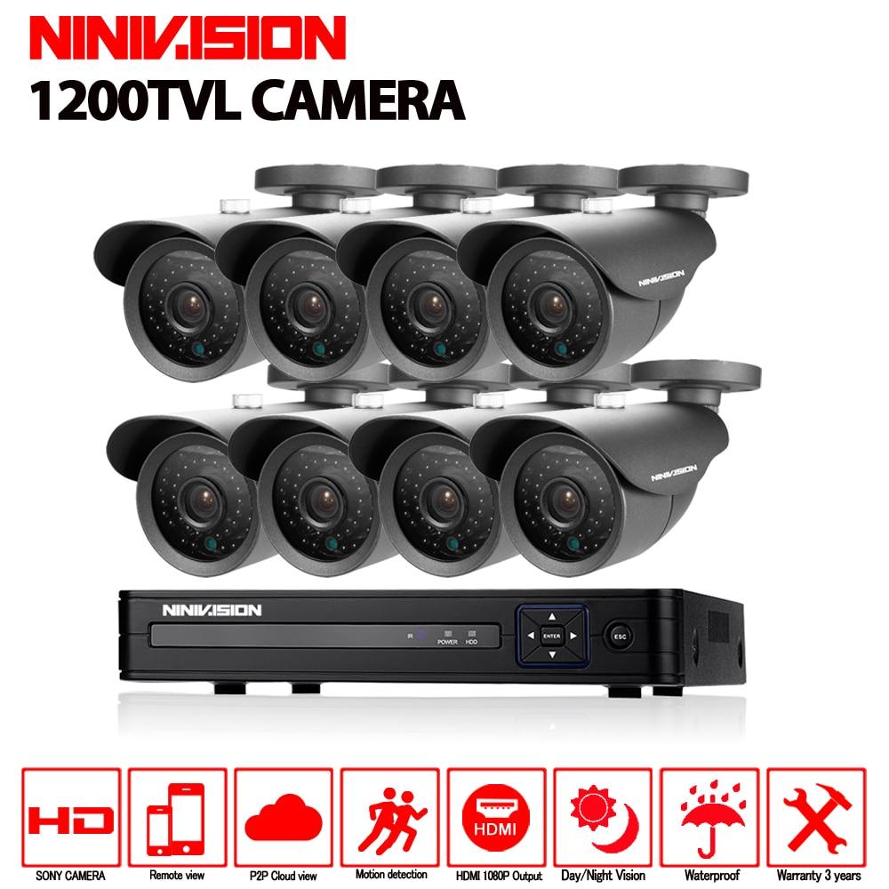 8ch Sony Imx323 Cctv System 1mp 720p Video Surveillance Dvr Kit Toshiba G7 Asd Wiring Diagram 8xip66 Waterproof 1200tvl Security Camera 30m Nigh Vision