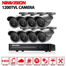 8CH SONY IMX323 CCTV system 1MP 720P video Surveillance DVR Kit 8xIP66 waterproof 1200TVL Security Camera 30m Nigh vision