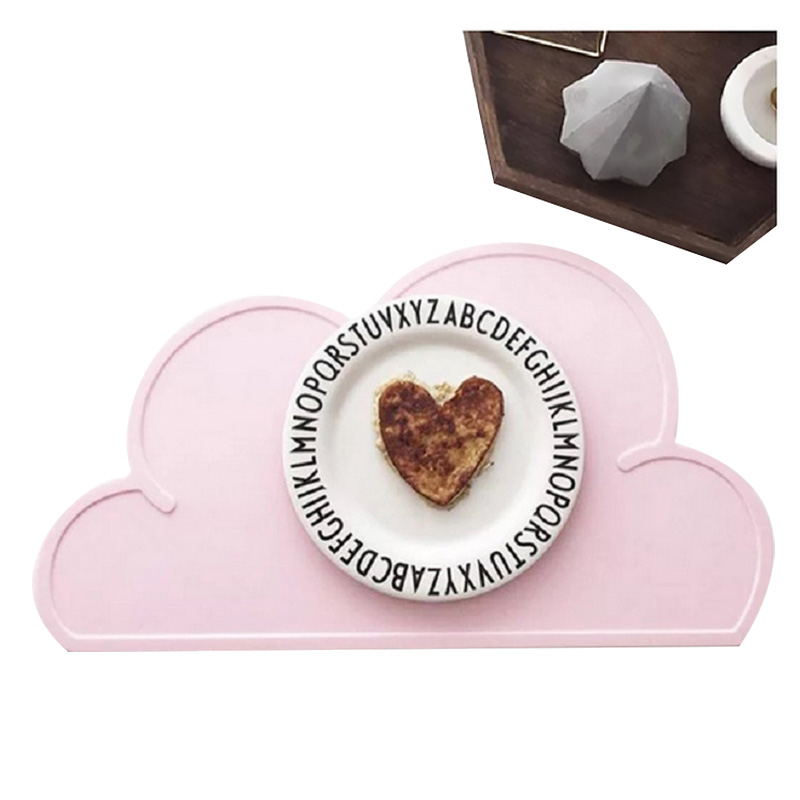 Portable Clouds Silicone Placemat Adult Baby Dishes Accessories Insulated Mats Mobile Tray Protection Tableware Service Plate