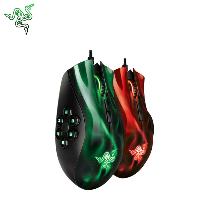 Razer NAGA HEX MOBA 5600dpi Professional Game Mouse with 11 Bottons Gaming Mice Support Official Verification for Gaming Gamer razer naga hex green