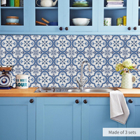 Funlife Tile Stickers PVC Bathroom Waterproof Wall Stickers Home Decor Self adhesive Floor Sticker Decal Sticker Kitchen DB095