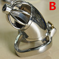 2017 New Lock Design 66mm Cage Adult Chastity Cage Stainless Steel Male Chastity Devices with Urethral Catheter for Men G196