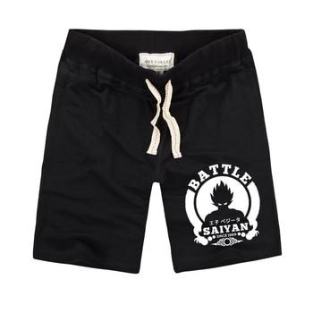 Dragon Ball Design Casual Men Shorts Elastic Belt