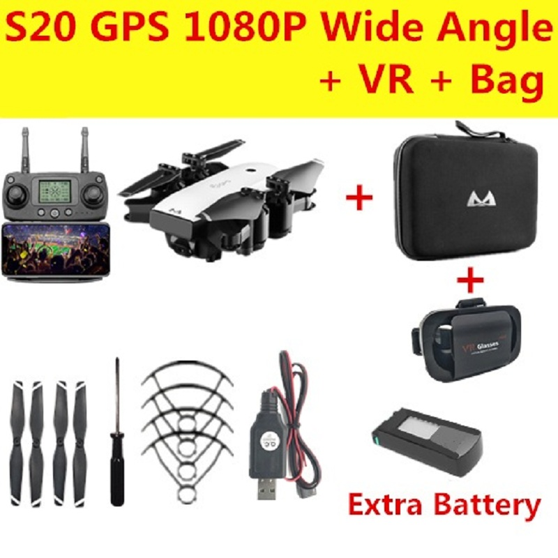 SMRC S20 Drone GPS Folow Me Drones with Camera HD 1080P WiFi FPV Quadcopter Dron RC Helicopter VS CG033 F11 XS812 H117s zino X9