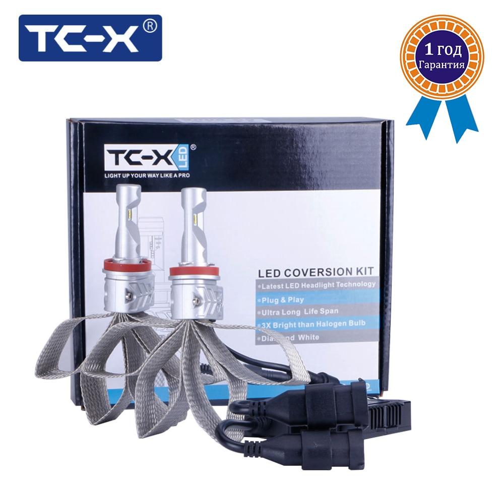 TC X Lumileds Luxnon ZES LED Headlight H11 H8 H9 9006 Hb4 9005 Hb3 H4 H7
