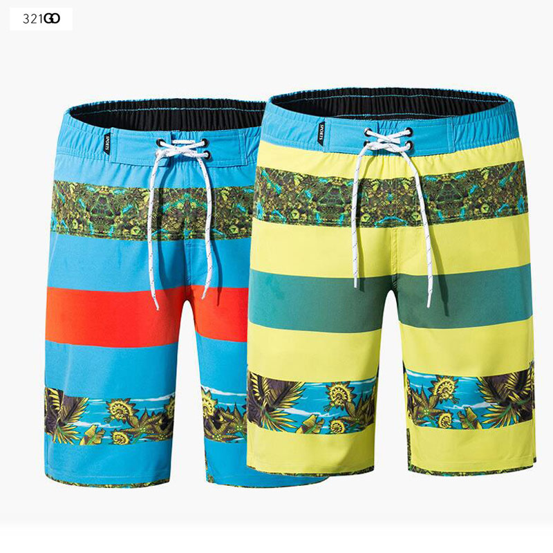 Summer New Quick Dry Men's Swim   Shorts   Print Floral Surf Swimwear Beach   Shorts   Male Running Gym Plus Size Trunks   Board     Shorts