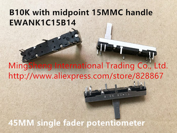 Original new 100% 45MM single fader potentiometer B10K with midpoint 15MMC handle EWANK1C15B14 (SWITCH)