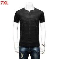 Summer Plus Size Men S Loose Black Slim Body Shirt Short Sleeve T Shirt Big