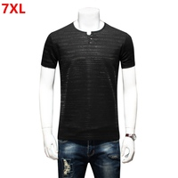 Summer Plus Size Men S Loose Black Slim Body Shirt Short Sleeve T Shirt Big