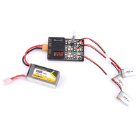 1 S Lipo 3,8 V LiHv Batterie Ladegerät Vorstands 6 In 1 Lade Hub mit JST und Micro Losi Kabel Für KINGKONG/LDARC Tiny 6 7 mini Drone