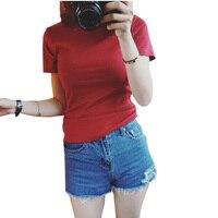 New White Color Half Turtleneck T Shirts Women Summer Cotton Short Sleeve Slim Bottoming Shirts Tops
