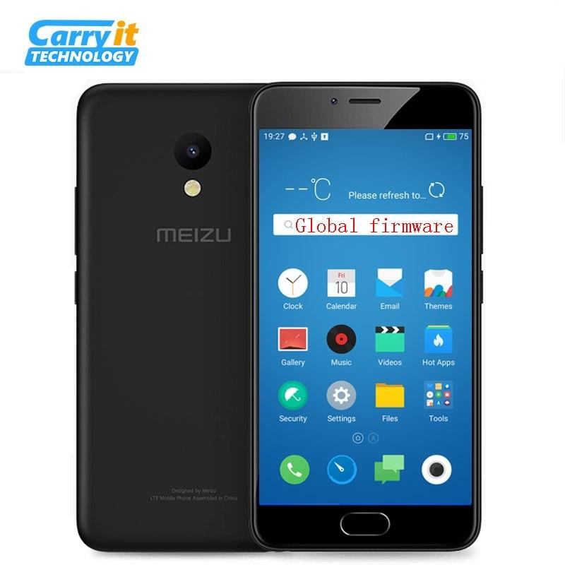 """bilder für Ursprüngliche Meizu M5 16 GB 2 GB Globale Firmware OTA Handy MTK MT6750 Octa-core 5,2 """"1280x720 13.0MP Cellular Fingerabdruck"""