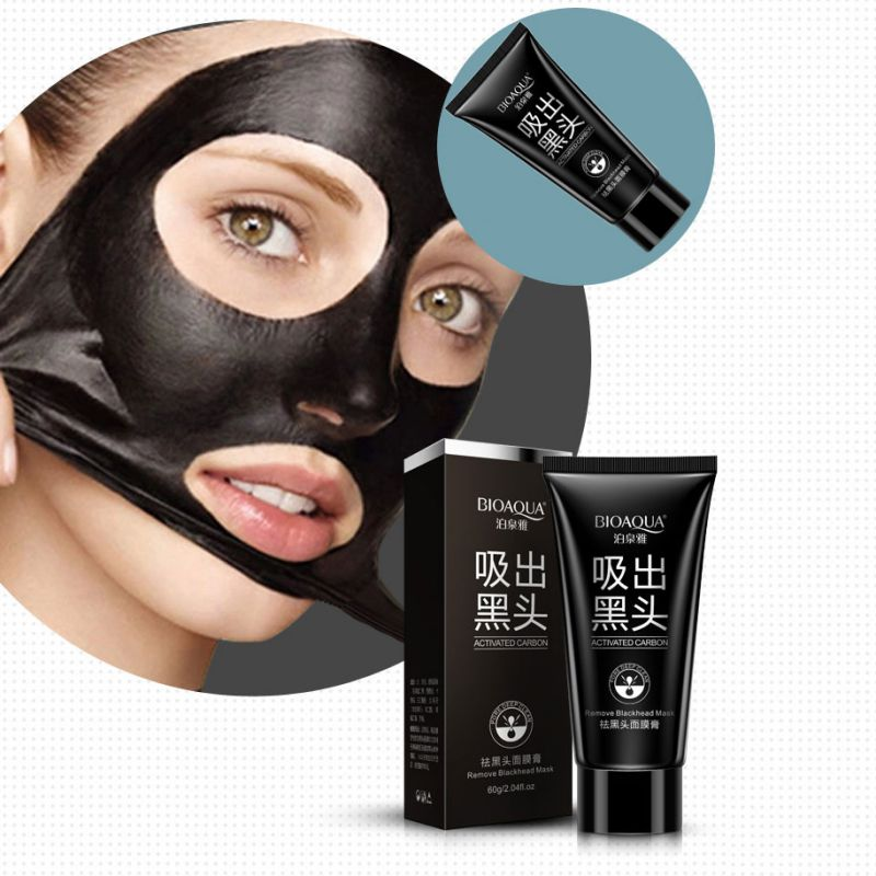 Mască neagră Mască de față Mască de masaj de aspirație Nose Blackhead Remover Peeling Peel Off Cap negru Tratament acneei Mască