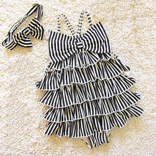 Dollplus Kids Swimwear for Girls One Piece New Fashion Striped Summer Beach Swim Bathing Suit Baby Swimsuits