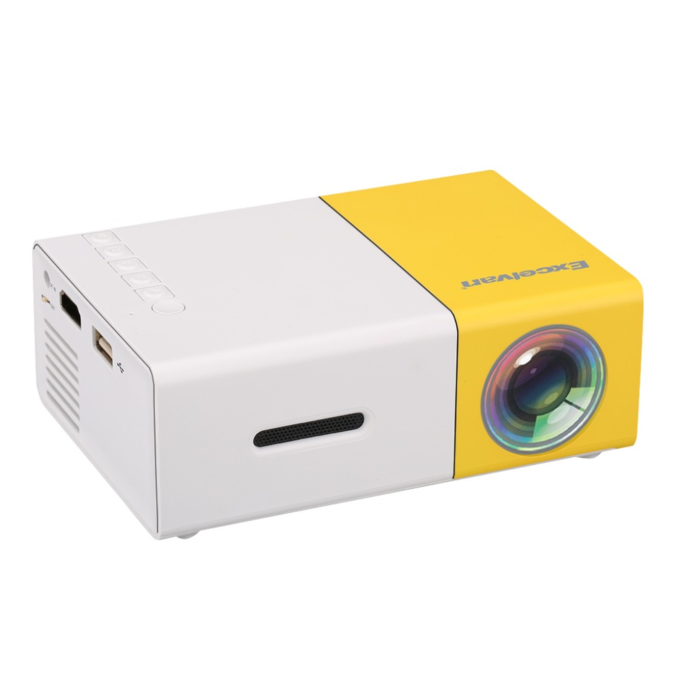 Excelvan mini yg300 lcd projector with audio hdmi for Small hdmi projector