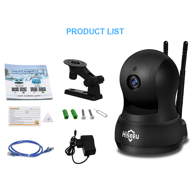 IP Camera Wi-Fi Wireless Network camera wifi HD TF Card Record Security CCTV Camera Night Vision Defender 720P H.264 hiseeu FH5