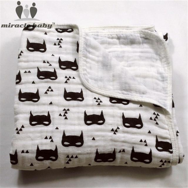 Soft & Confortável Duas Camadas De Musselina De Algodão Cobertor Do Bebê Para O Sono Profundo, 47x47 polegadas Carrinho De Criança Cobertor para Recém-nascidos Unissex