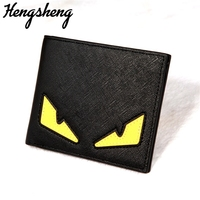 Trendy Card Pack Purse Fashion Casual Monster's Eye Short Paragraph Pretty Cute Youth Men's   Wallet   Multi-card Position 023