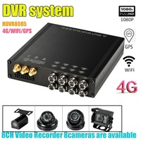 HDVR8085 8CH 1080P DVR kit system with 8pcs camera video support GPS 4G WiFi Mobile DVR for car Bus RV truck use Security camera