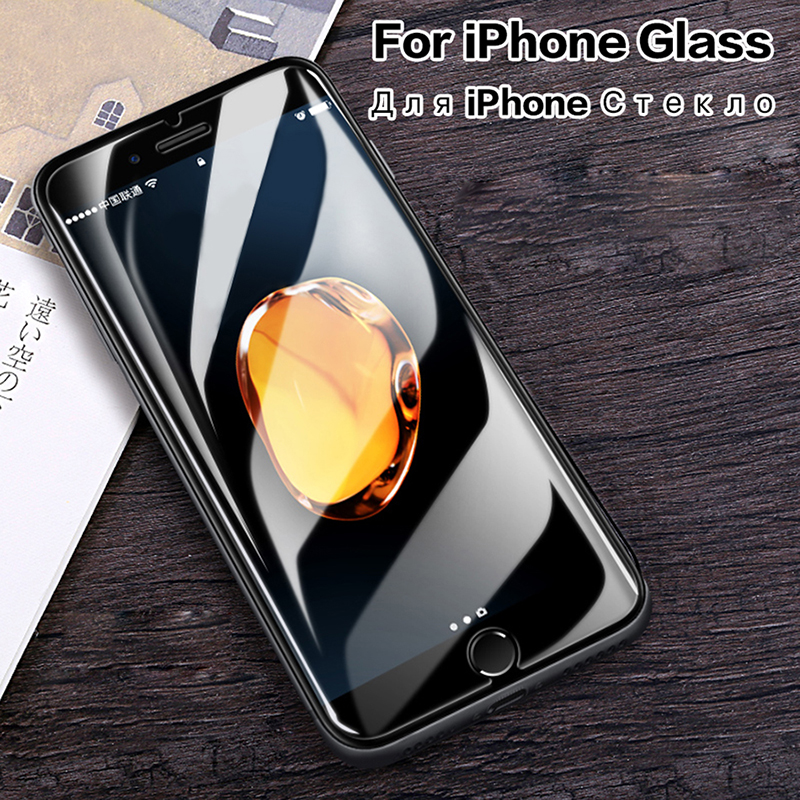 Tempered Glass For IPhone 7 Screen Protector IPhone 7 6S 8 Plus X Xr Xs Max Apple For IPhone 7 Glass On IPhone6S 8 7Plus Cover