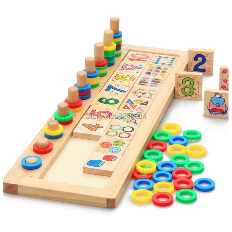 New Sale 1 Set Children Montessori Wooden Material Counting Numbers Matching Learning Early Education Teaching Math Toys Gift