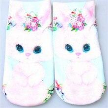 women sneakers Fashion great sale casual Cute 3D Socks Beauty Short Women Socks Printed Funny Socks Womens Cotton Sock 1769P45