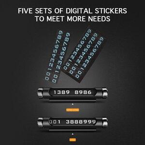 Image 3 - Tarjeta giratoria para estacionamiento temporal de coche, diseño de adsorción magnética para matrícula de teléfono