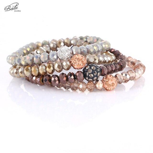 26a9016df837 Badu Chocolate pulseras de perlas regalo de mejor amigo anillo de pulsera  de cuentas de cristal