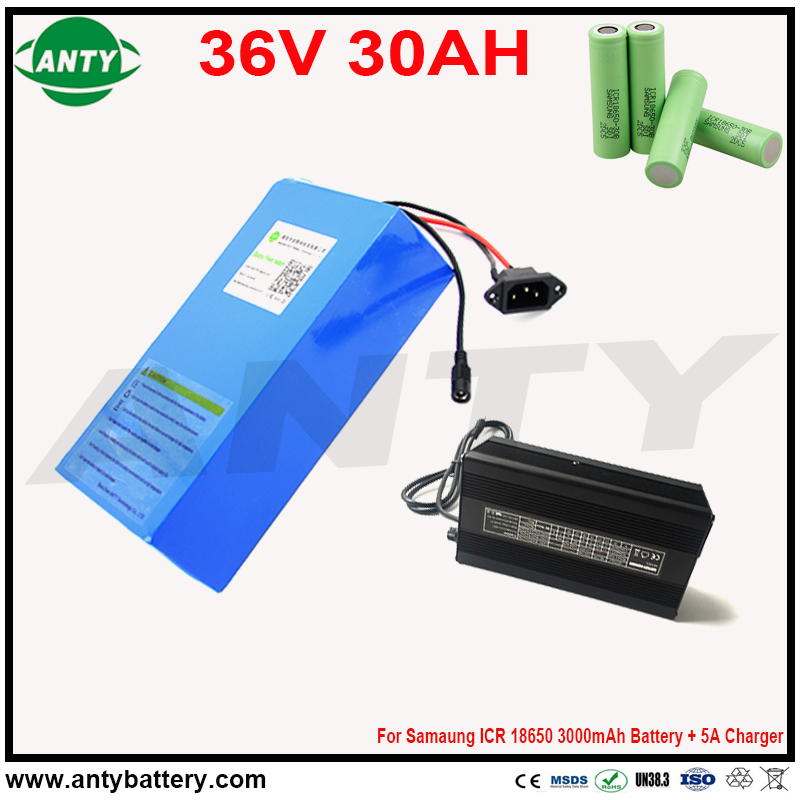 Lithium Battery 36v 30ah 1400w 50A BMS Electric Bicycle Battery 36v for Samsung 30B 18650 Cell eBike Battery 36v Free Shipping конструктор banbao самосвал грузовой 280 деталей 8520