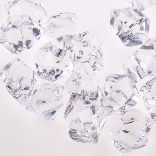1 Pack Translucent Clear Acrylic Ice Rocks Gems Crystal For Vase