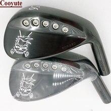 새로운 골프 헤드 Cooyute 단조 스컬 블랙 골프 웨지 헤드 및 52.56.58 도 클럽 헤드 골프 샤프트 없음 무료 배송