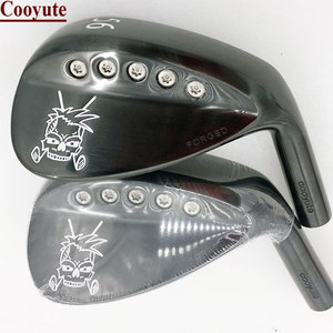 Image 1 - 新しいゴルフヘッドcooyute鍛造頭蓋骨ブラックゴルフウェッジヘッドと 52.56.58 度クラブヘッドなしゴルフシャフト送料無料