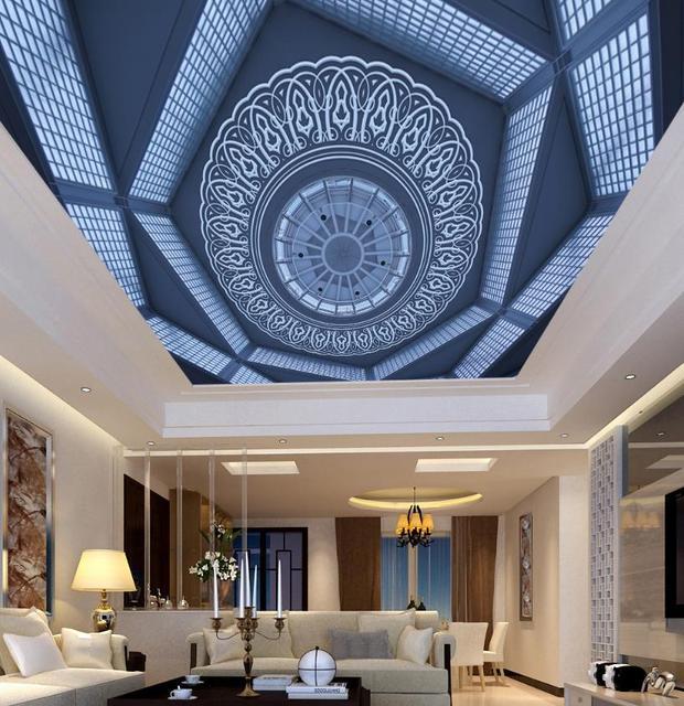 3d Decke Europäischen stil Hintergrundbilder Für Wohnzimmer 3d Decke ...